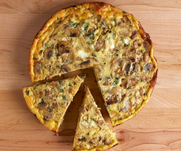Mushroom, Onion, & Goat Cheese Frittata | Kim and Erran G
